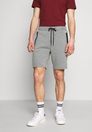 PULL ON WITH BONDED TAPE POCKETS - Tracksuit bottoms - heather gray
