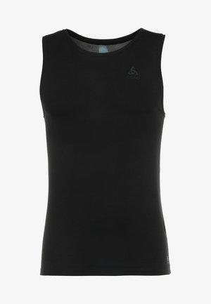 CREW NECK SINGLET ACTIVE LIGHT - Undershirt - schwarz