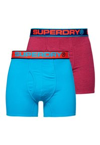 Superdry - SPORT BOXERS IM 2ER-PACK - Boxer shorts - florida pink grit/beach blue - 0