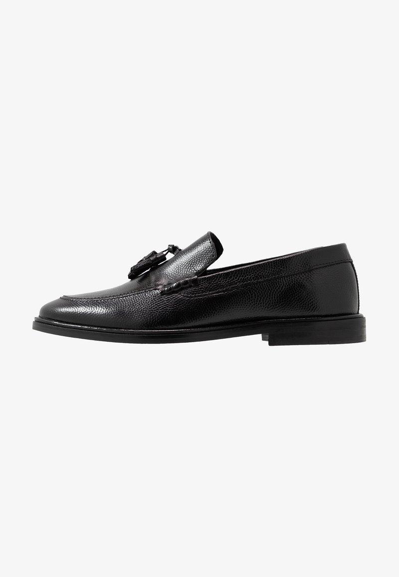 Walk London - WEST TASSEL LOAFER - Elegantní nazouvací boty - black