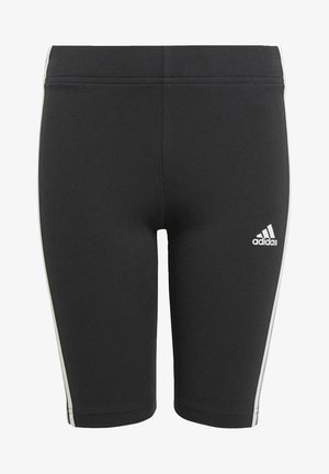 ESSENTIALS 3-STRIPES SHORT TIGHTS - Korte broeken - black