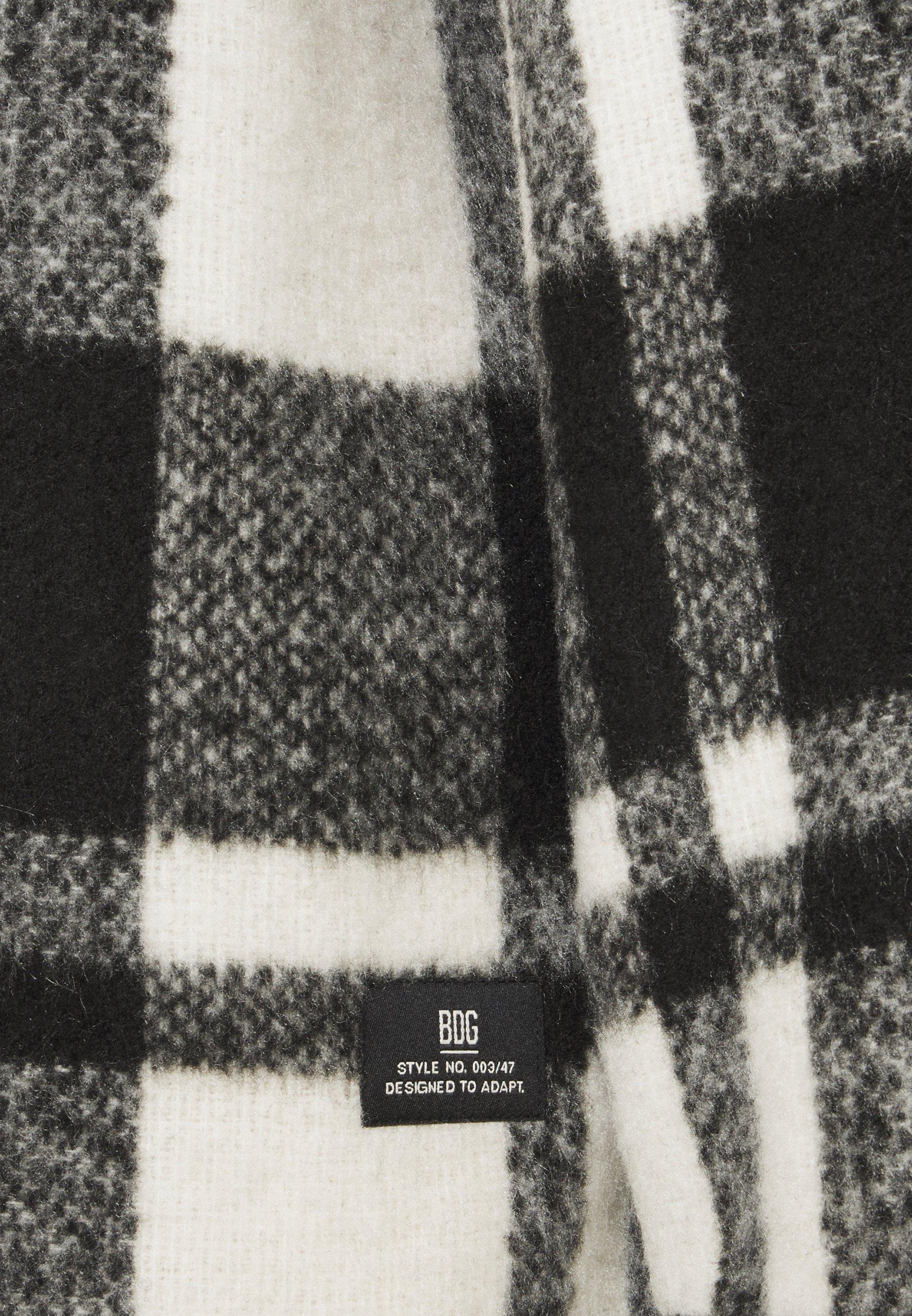 BDG Urban Outfitters CHECK JACKET Leichte Jacke black/white/schwarz