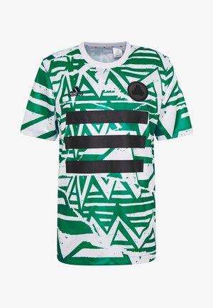 TAN - T-shirt con stampa - white/glow green