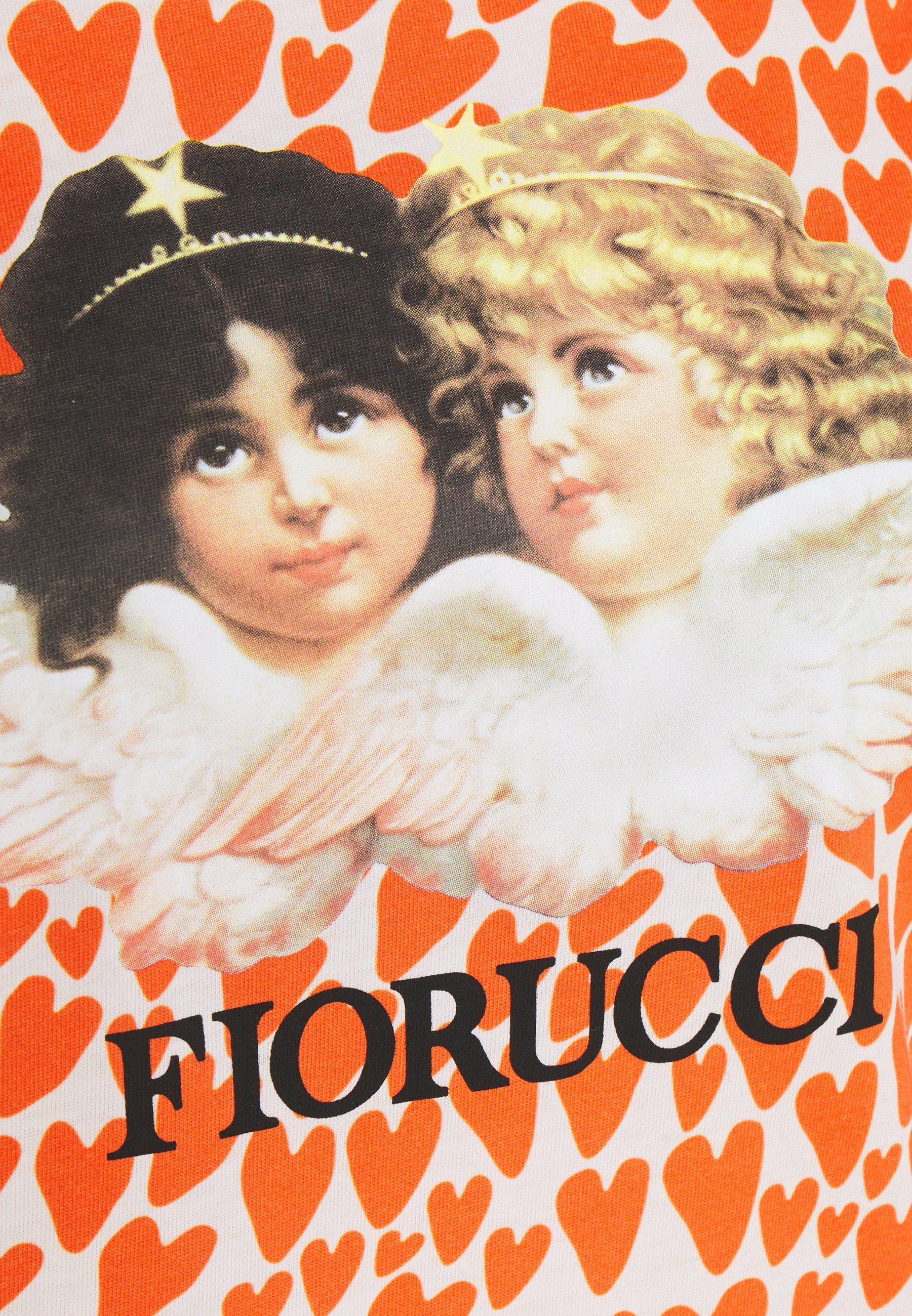 Fiorucci VINTAGE ANGELS TEE HEARTS - T-shirt imprimé - orange/white - Tops & T-shirts Femme kmym9