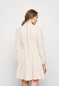 Closet - HIGH COLLAR MINI DRESS - Day dress - beige - 2