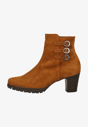 Platform ankle boots - copper