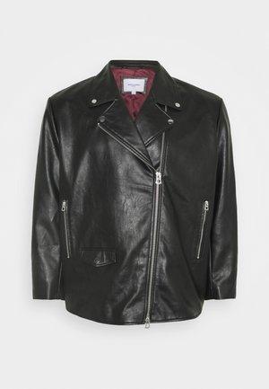 JORHIVE BIKER JACKET  - Faux leather jacket - black