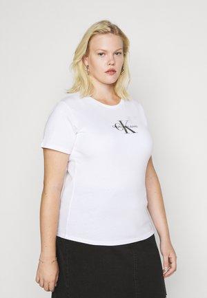 GLITTER MONOGRAM TEE - T-shirt con stampa - white