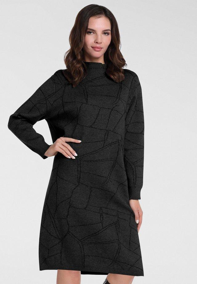 Robe en jersey - schwarz