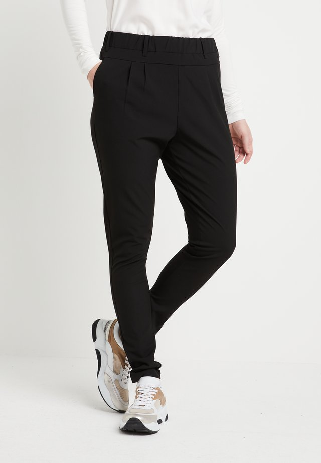 JILLIAN PANTS - Tygbyxor - black deep