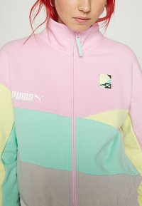 Puma - TRACK JACKET - Zip-up sweatshirt - gray/violet - 7