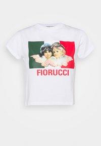 Fiorucci - SPEED QUEEN CROP TEE  - Print T-shirt - white - 5