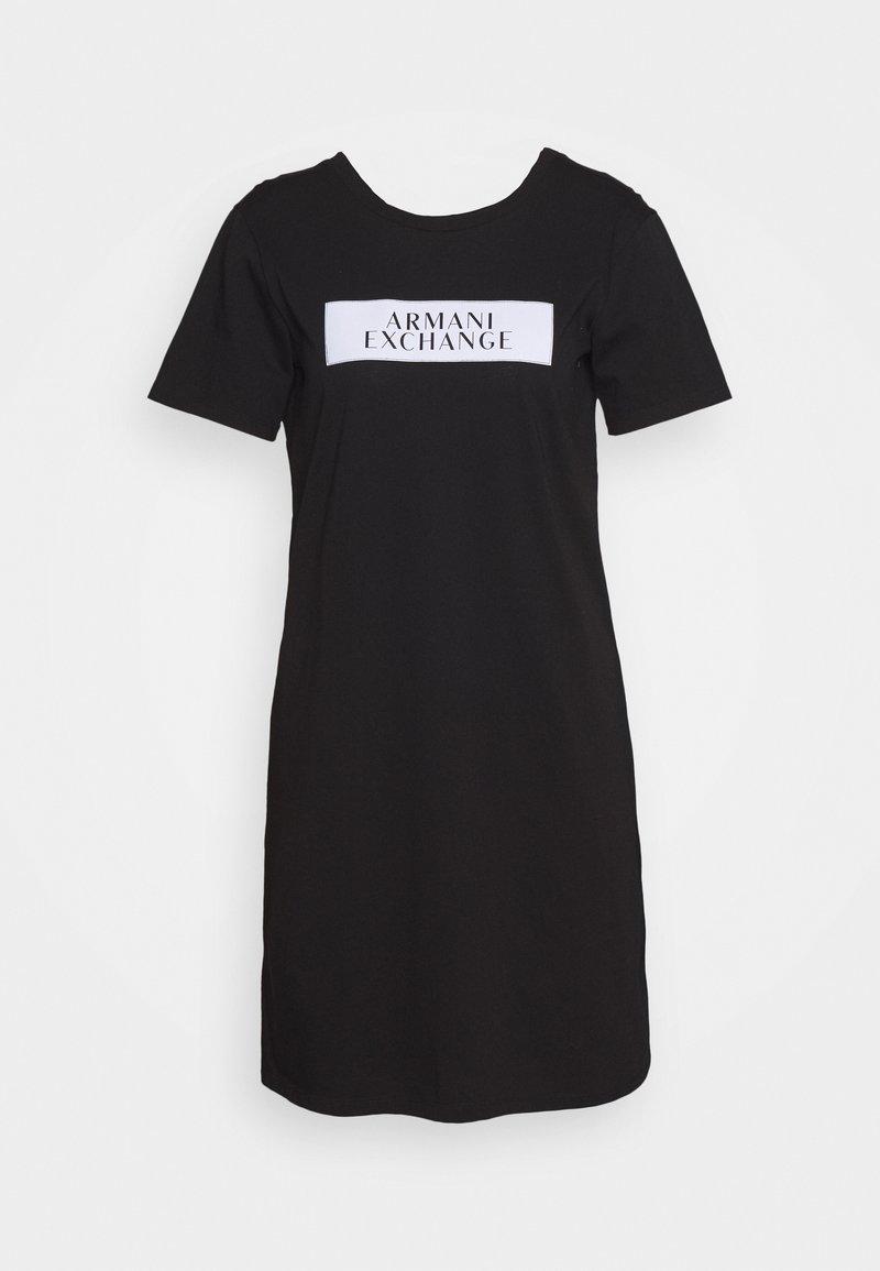 Armani Exchange - DRESS - Žerzejové šaty - black