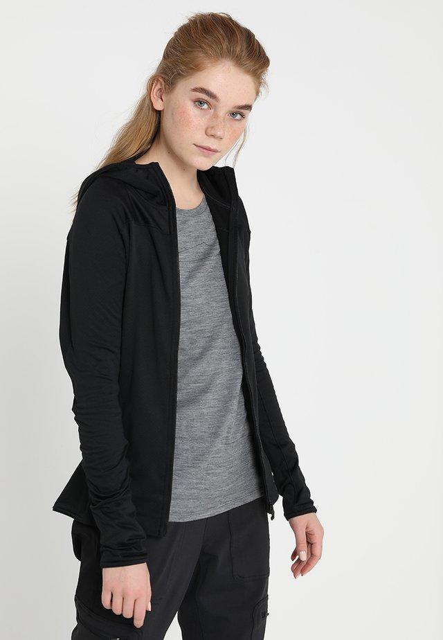 TERREX TRACEROCKER HOODED HIKING FLEECE - Fleece jacket - black