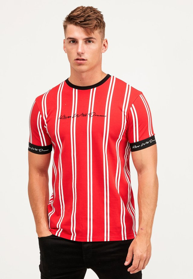 CLERTON - T-shirt med print - red/white