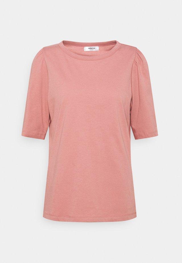 ALVA PUFF TEE - T-shirts print - ash rose