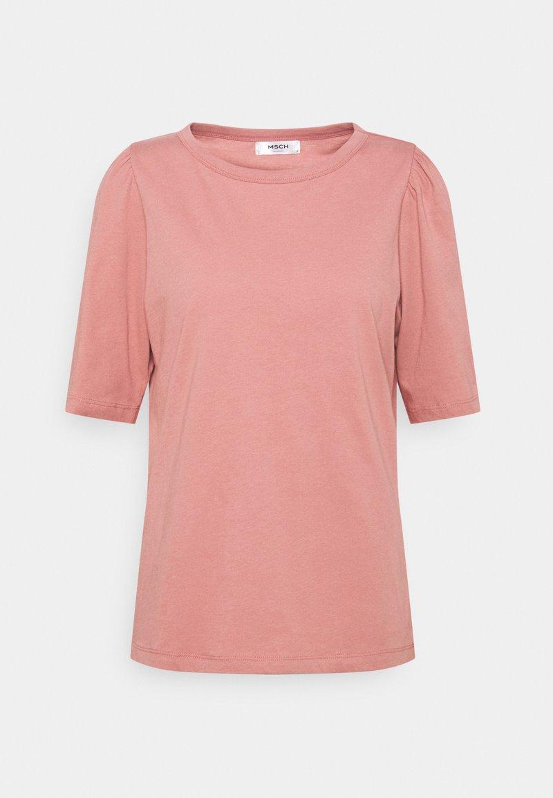 Moss Copenhagen - ALVA PUFF TEE - Print T-shirt - ash rose