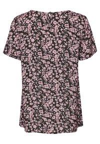 Kaffe - KAGARDANA  - Print T-shirt - candy pink / grape leaf flower - 5