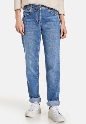 Straight leg jeans - dark blue denim mit use