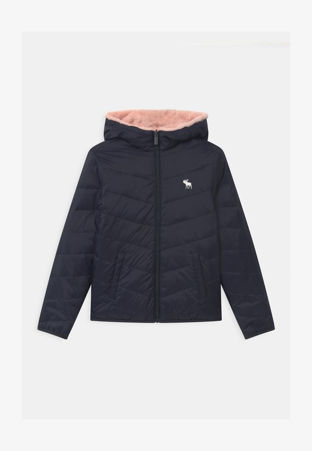 COZY PUFFER - Winter jacket - navy/pink