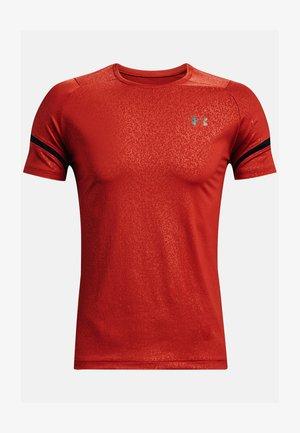 UA RUSH 2.0 EMBOSS SS - Sports shirt - dark red