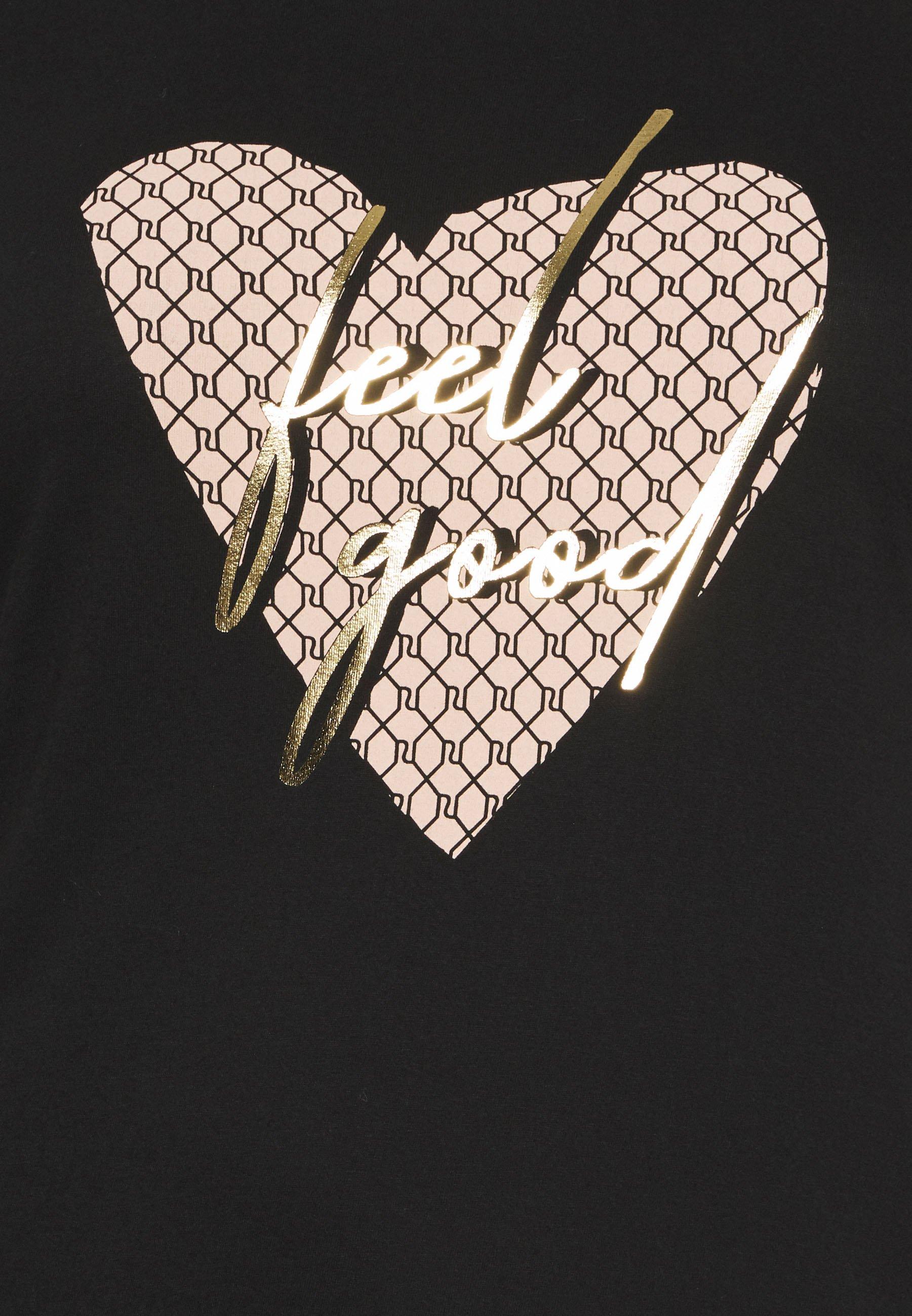River Island Plus T-shirts Med Print - Black/svart