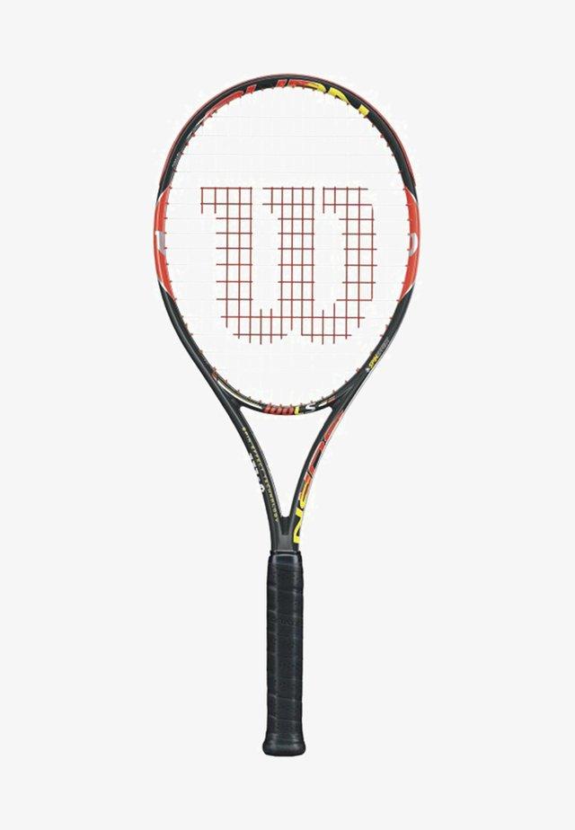 BURN 100LS - Tennis racket - schwarz/orange