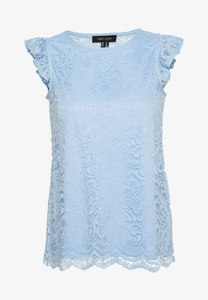 SCALLOP FRILL SHELL - Blůza - light blue