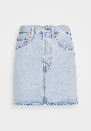RIBCAGE SKIRT - Minigonna - light blue denim