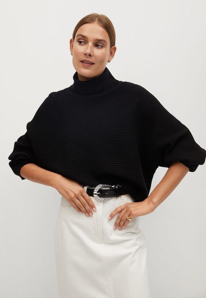 Mango - CARAVAN - Sweter - noir