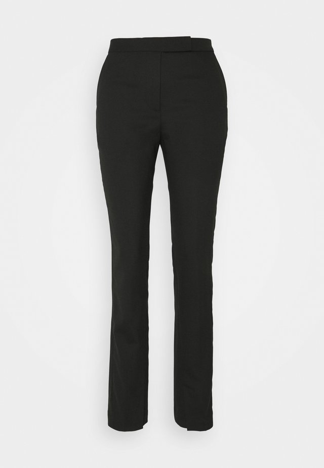 TROUSER - Kangashousut - black dark
