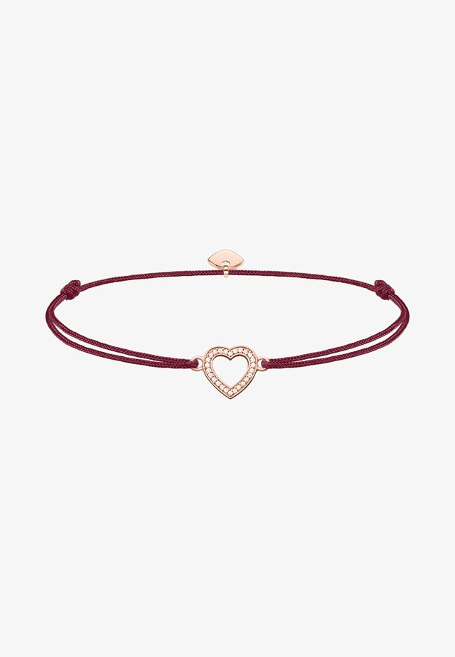 LITTLE SECRET HERZ  - Armband - rosegold-coloured,red,white
