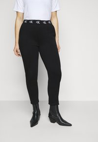 Calvin Klein Jeans Plus - LOGO TRIM PANT - Leggings - Trousers - beh - 0