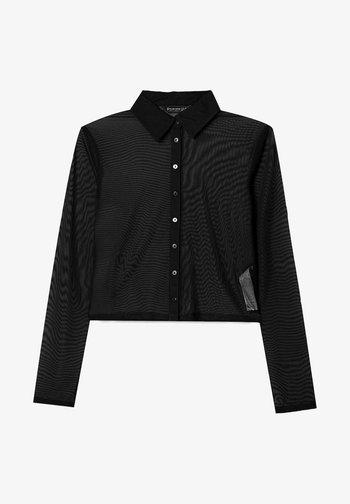 TÜLL - Button-down blouse - black