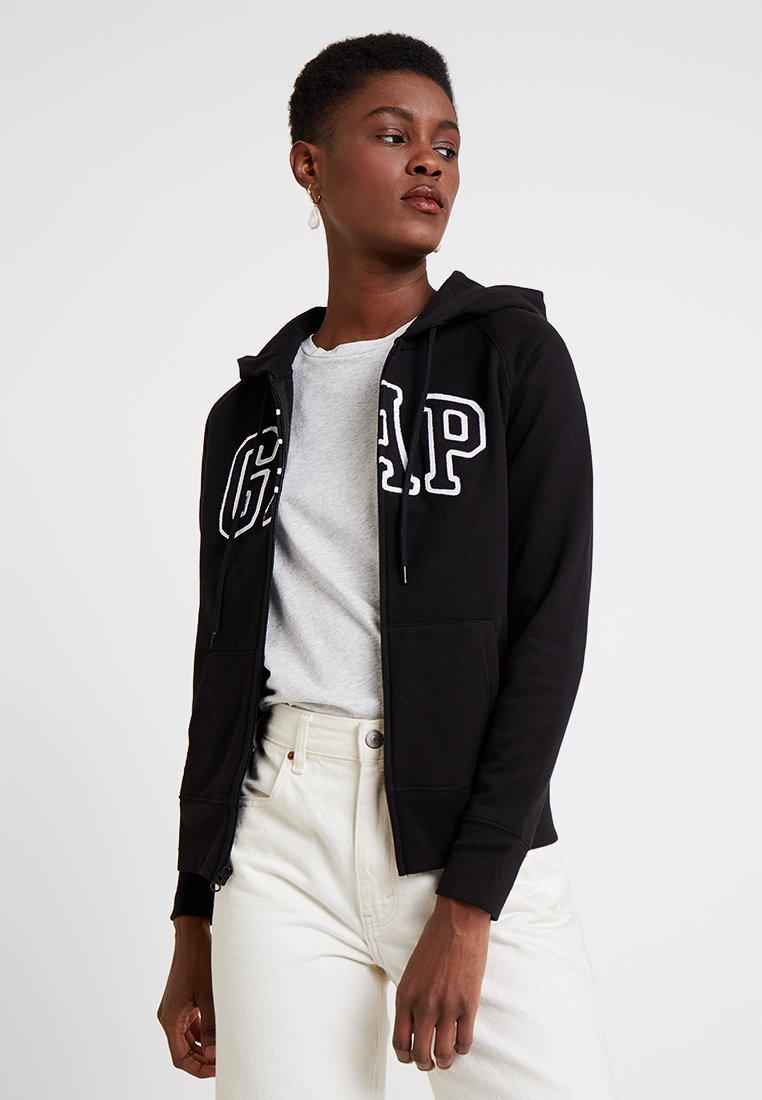 GAP - Zip-up hoodie - true black