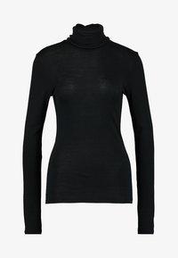 Hanro - WOOLEN-SILK MIX - Undershirt - black - 4