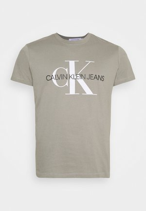 SEASONAL MONOGRAM TEE - T-shirt print - elephant skin / white