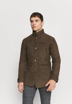 FIRENZA - Kožená bunda - khaki