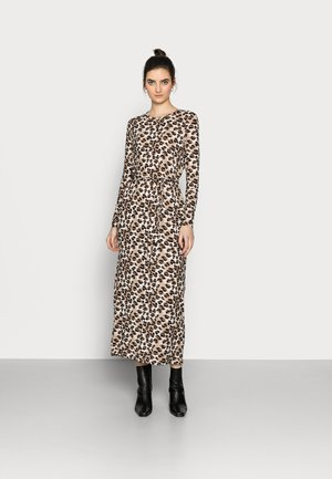 VMNAVA TIE ANKLE DRESS - Maxi dress - silver mink