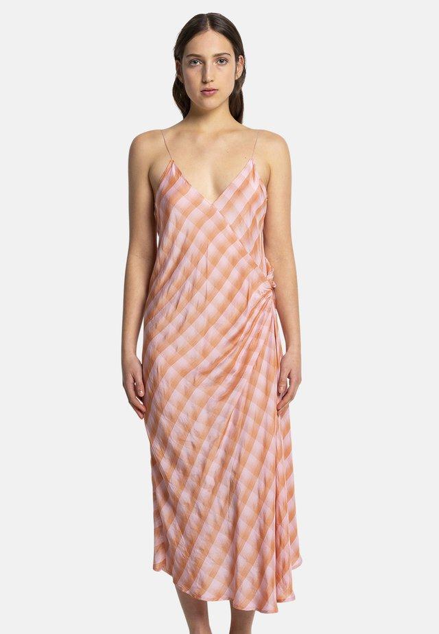 MAYA CHK - Day dress - peach