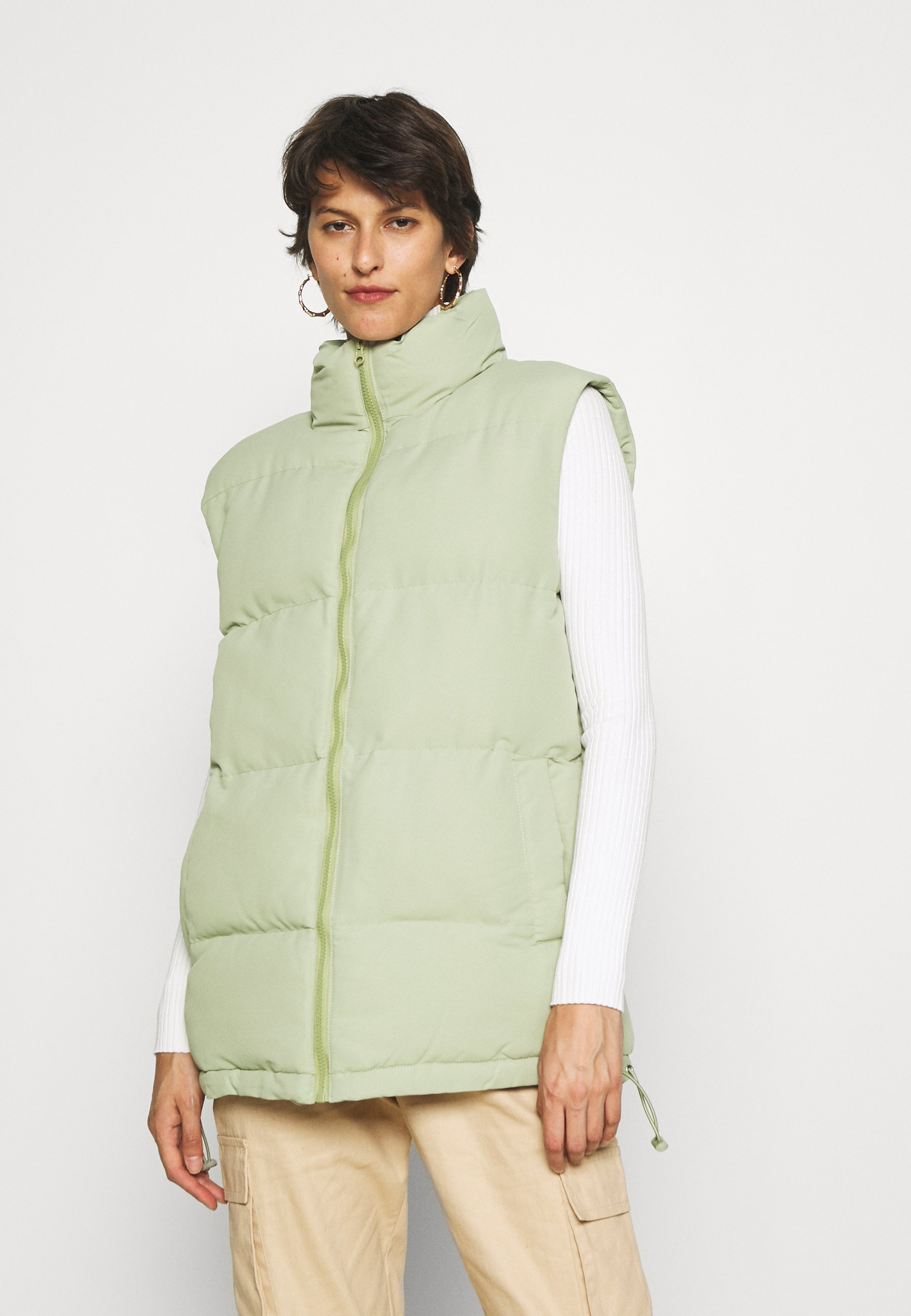 Women BOXY PADDED GILET - Waistcoat