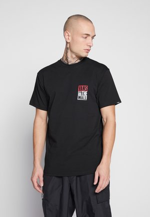 NEW STAX  - T-shirt z nadrukiem - black