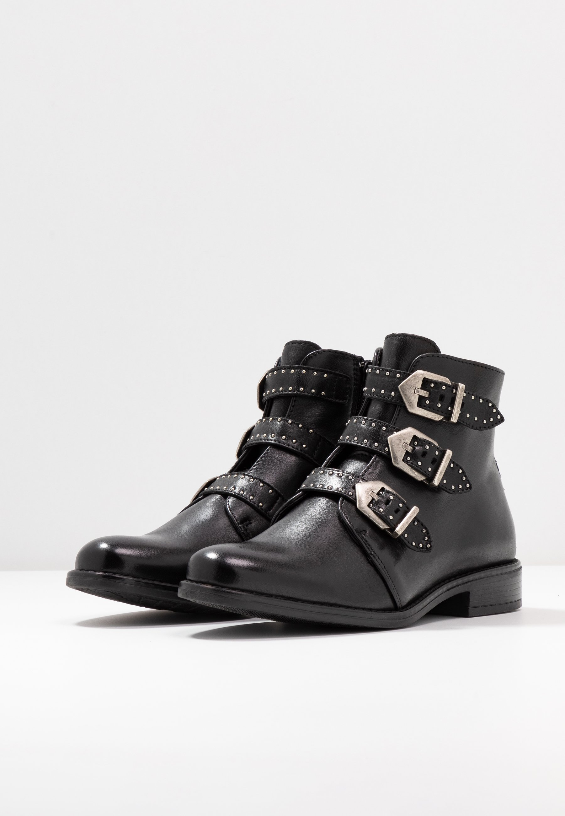 Anna Field LEATHER BOOTIES Ankle Boot black/schwarz