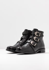 Anna Field - LEATHER BOOTIES - Boots à talons - black - 4