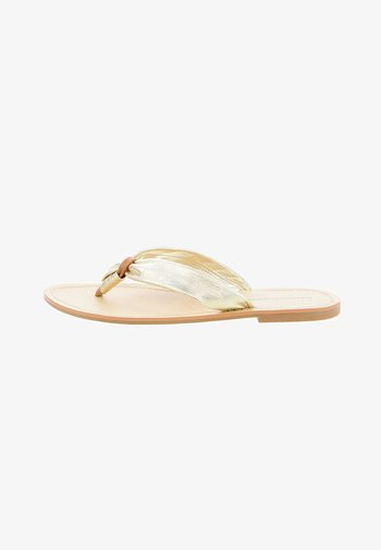 AMARONI - Sandály s odděleným palcem - złoty