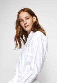 Polo Ralph Lauren - LONG SLEEVE CASUAL DRESS - Skjortekjole - white - 6