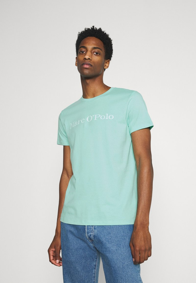Marc O'Polo - SHORT SLEEVE - T-shirt imprimé - mint