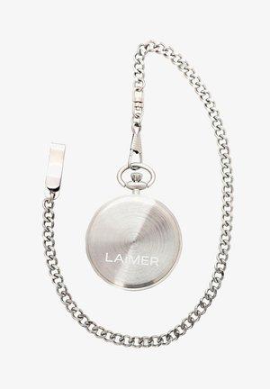 LAIMER QUARZ HOLZUHR - ANALOGE TASCHENUHR SANDELHOLZ - Orologio - silver