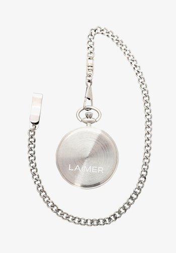 LAIMER QUARZ HOLZUHR - ANALOGE TASCHENUHR SANDELHOLZ - Watch - silver