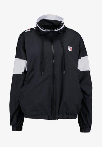 TAPE - Summer jacket - black/white